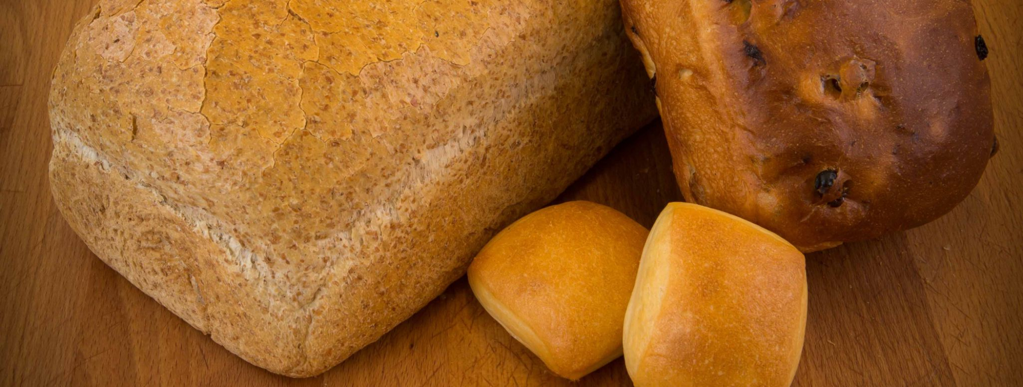 The brewery bakes bread, French rolls called pistolets and raisin bread.