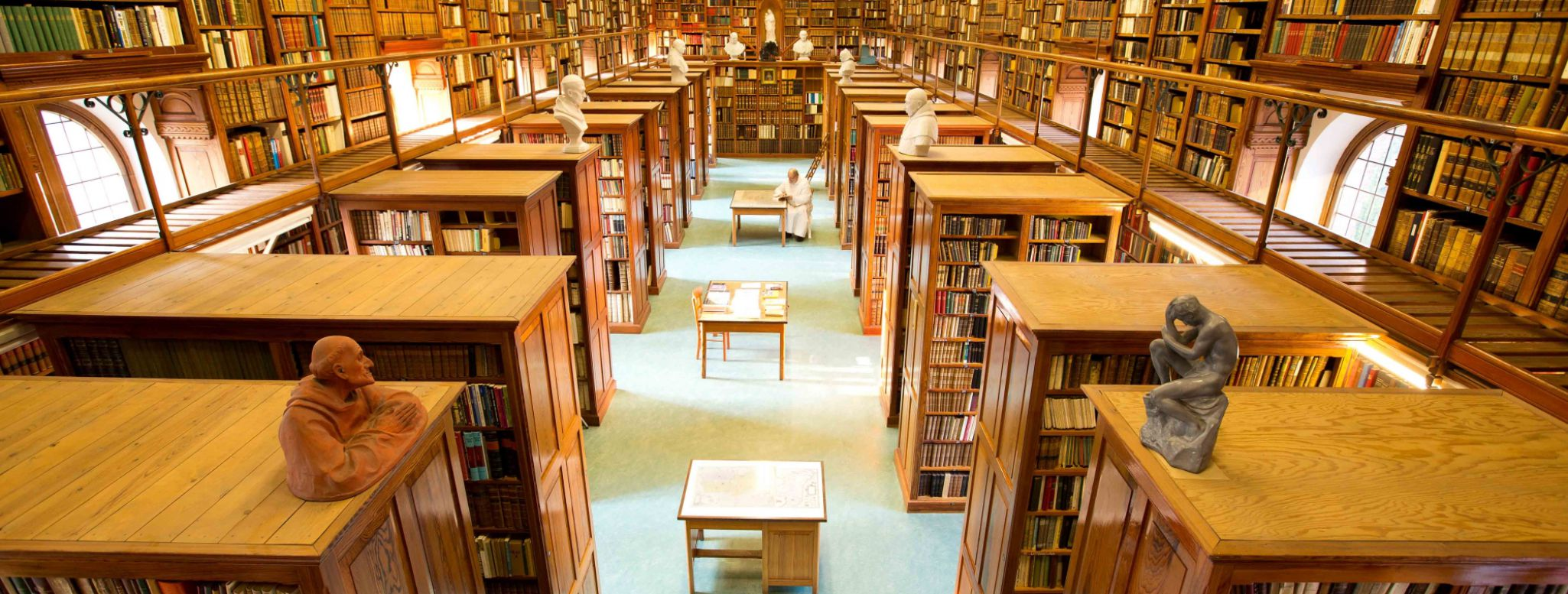 La biblioteca dell'abbazia di Westmalle