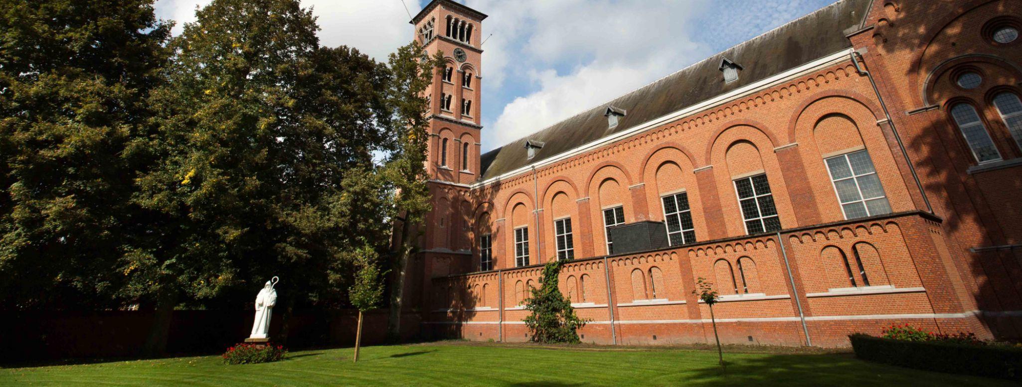 La chiesa dell'abbazia di Westmalle