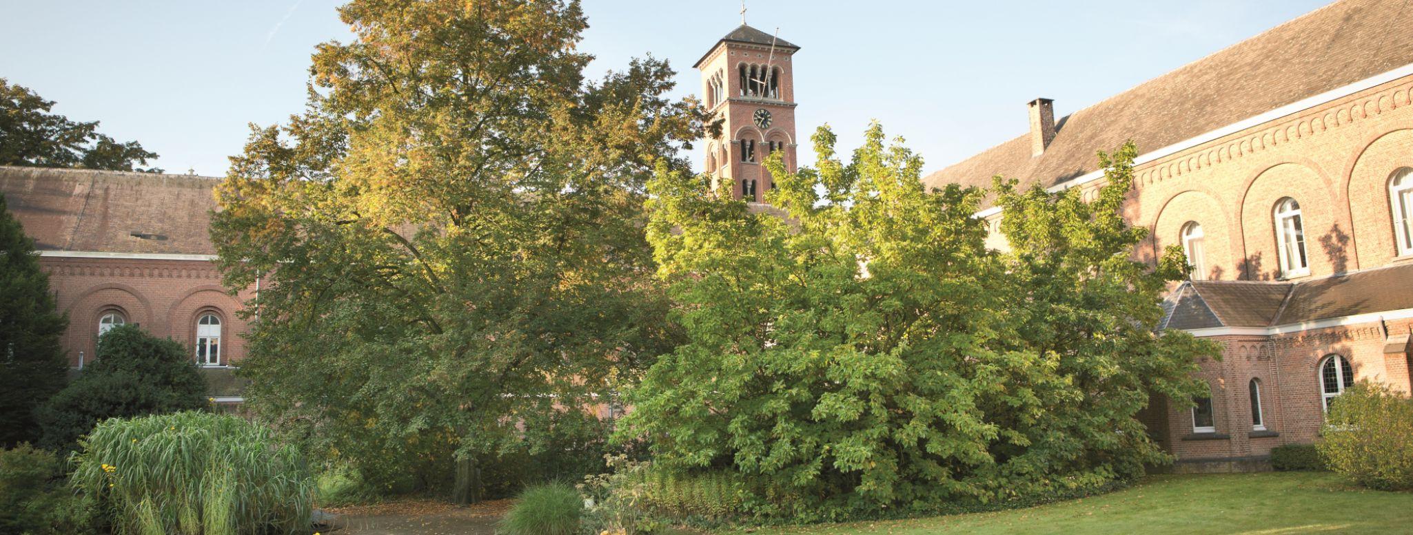 Il giardino del cortile dell'abbazia di Westmalle