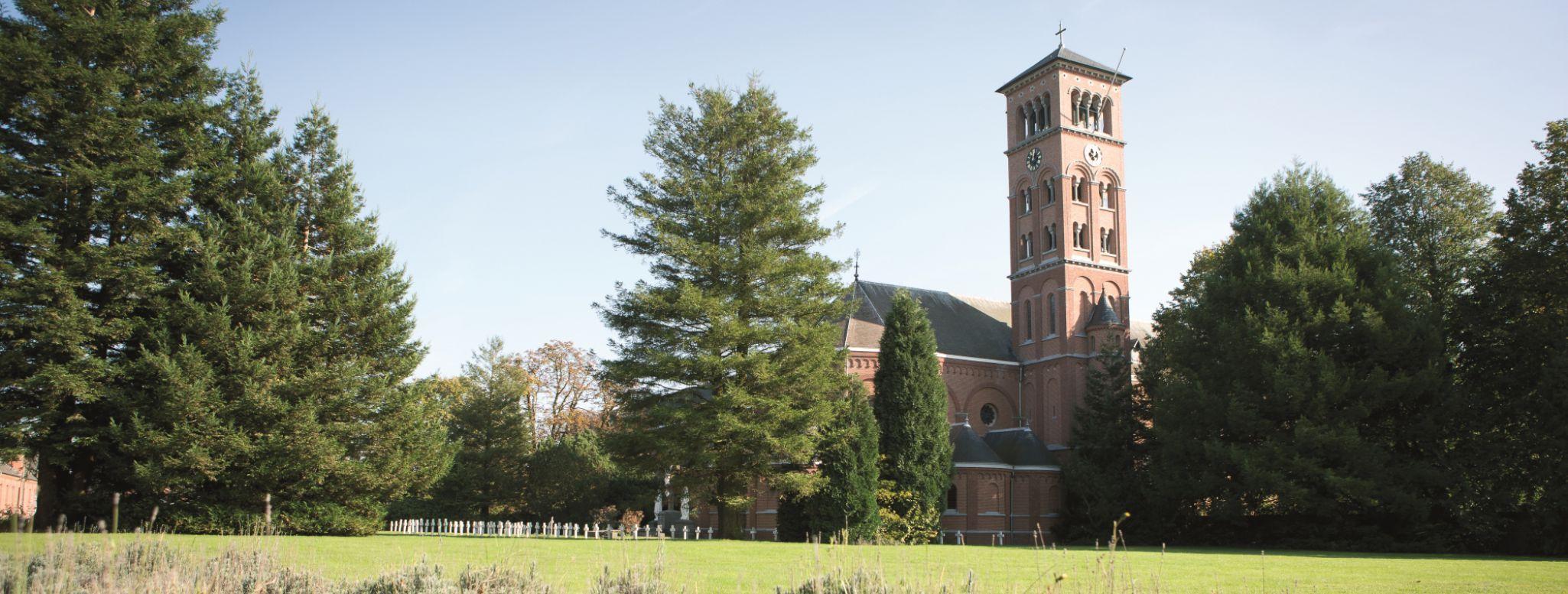 Il campanile dell'abbazia di Westmalle