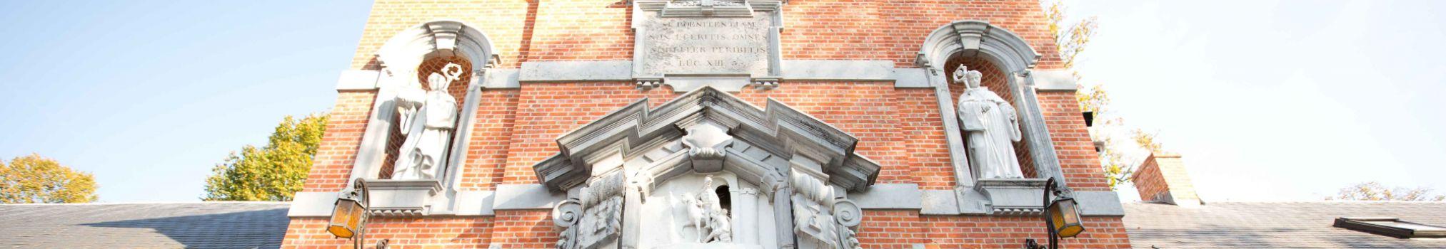Puerta de acceso a la Abadía de Nuestra Señora del Sagrado Corazón de Westmalle