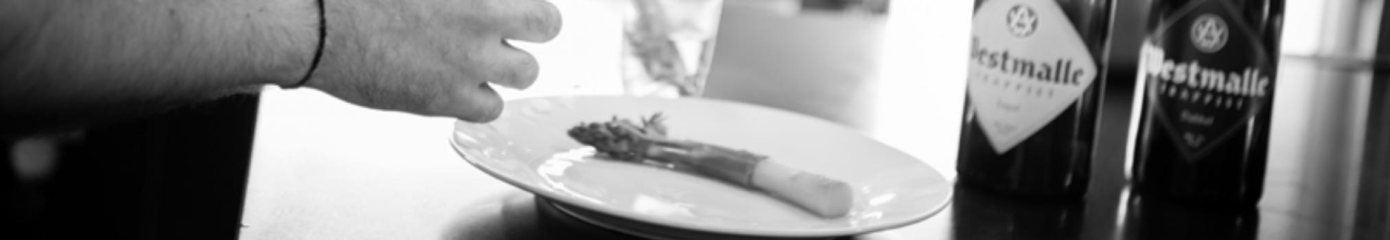 Chef utilisant de la Westmalle Dubbel et Tripel en cuisine