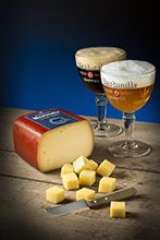 Westmalle Trappist cheese with Dubbel and Tripel