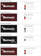Westmalle logo sheet