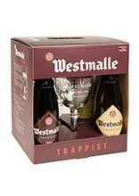 Westmalle geschenkverpakking met 4 flessen van 33 cl en 2 glazen van 17 cl