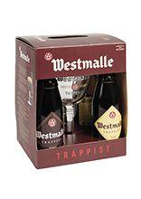 Westmalle geschenkverpakking 4 flessen van 33 cl met glas
