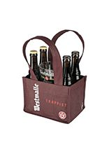 Basket with two 33 cl bottles of Dubbel and two 33 cl bottles of Tripel and a glass