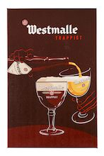 Westmalle beer wall sign in cardboard