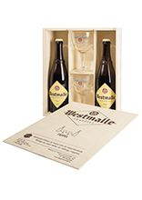 Wooden gift box 2 x 75 cl Westmalle Tripel