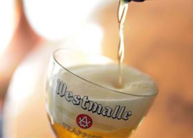 Pouring a Westmalle Tripel